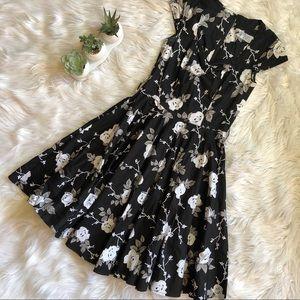 Hell Bunny Vixen Dress Vintage 40s Pinup Floral